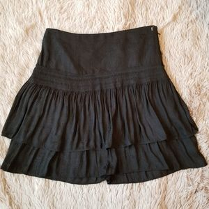 White House Black Market Tiered Paisley Skirt Mini